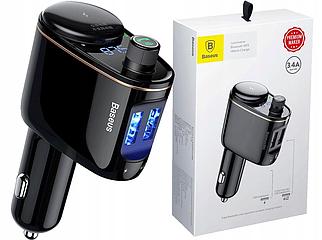 ✅ Автомобильный трансмиттер Baseus Locomotive Bluetooth MP3 Charger черный