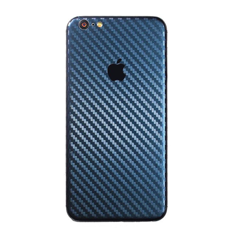 ✅ Защитная пленка на заднюю панель для iPhone 7/8 carbon синий