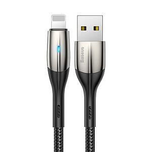 USB кабель Baseus Horizontal Lightning 2.4A (1m) black