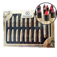 Тональный крем Dermacol набор 18 in1, Набор матовых помад Dermacol+ тональный крем, карандаш для бровей