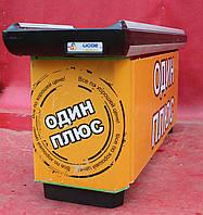 Кассовый бокс с узким накопителем, 200х115 см.,  желтый/левый (Украина) Б/у, фото 1