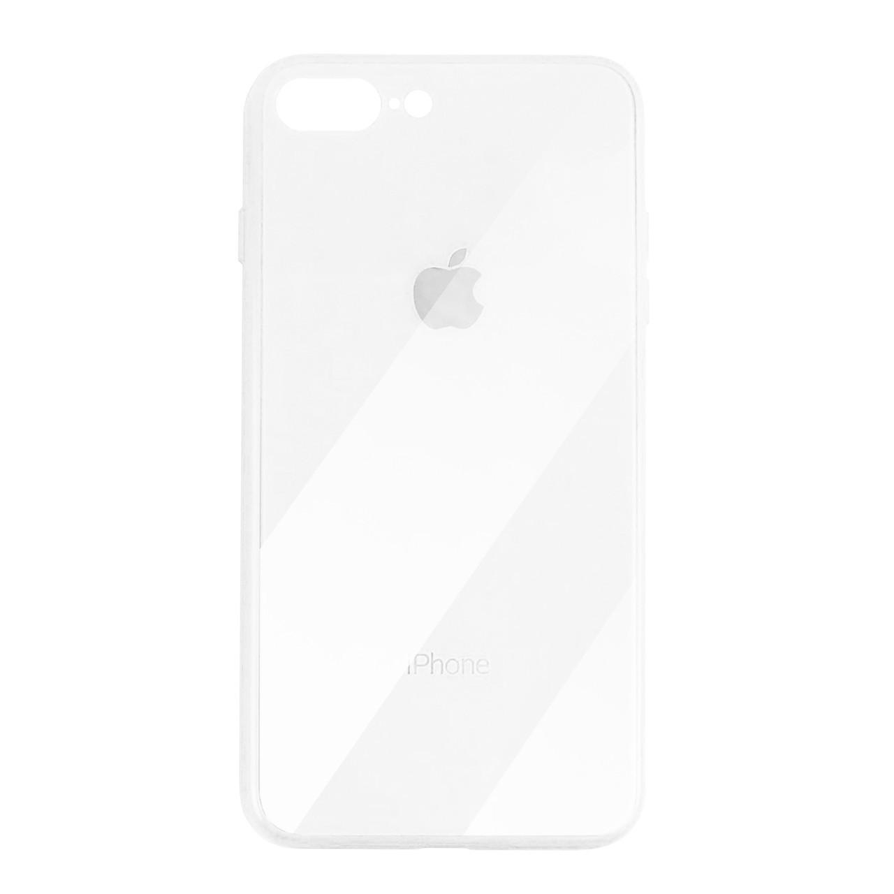 Чехол для iPhone 7 Plus/8 Plus Glass Case Logo white