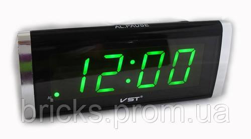 9092f505 Часы VST 730 Green, Часы с будильником, Светодиодные настольные часы,  Цифровые часы,