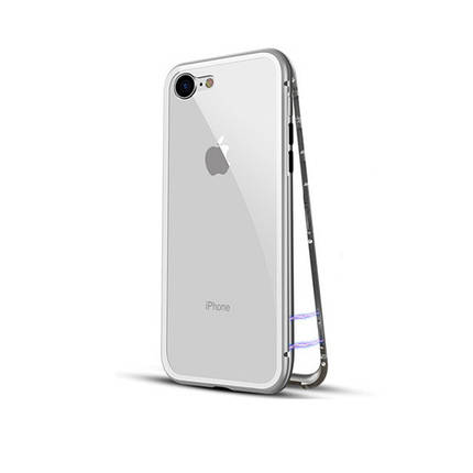 Чехол  накладка xCase для iPhone 7/8 Magnetic Case прозрачный белый, фото 2