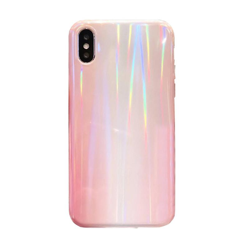 Чехол для iPhone XR Rainbow розовый