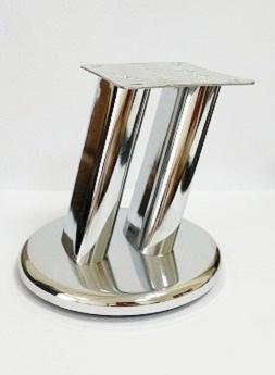 Ножка мебельная D-100 Н-100 мм, хром