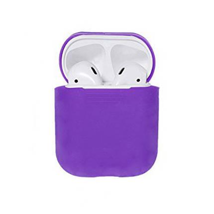 Чехол для AirPods silicone case фиолетовый, фото 2