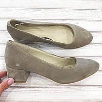 Туфли женские натуральная замша eva shoes 38p