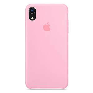 Чехол накладка xCase для iPhone XR Silicone Case розовый