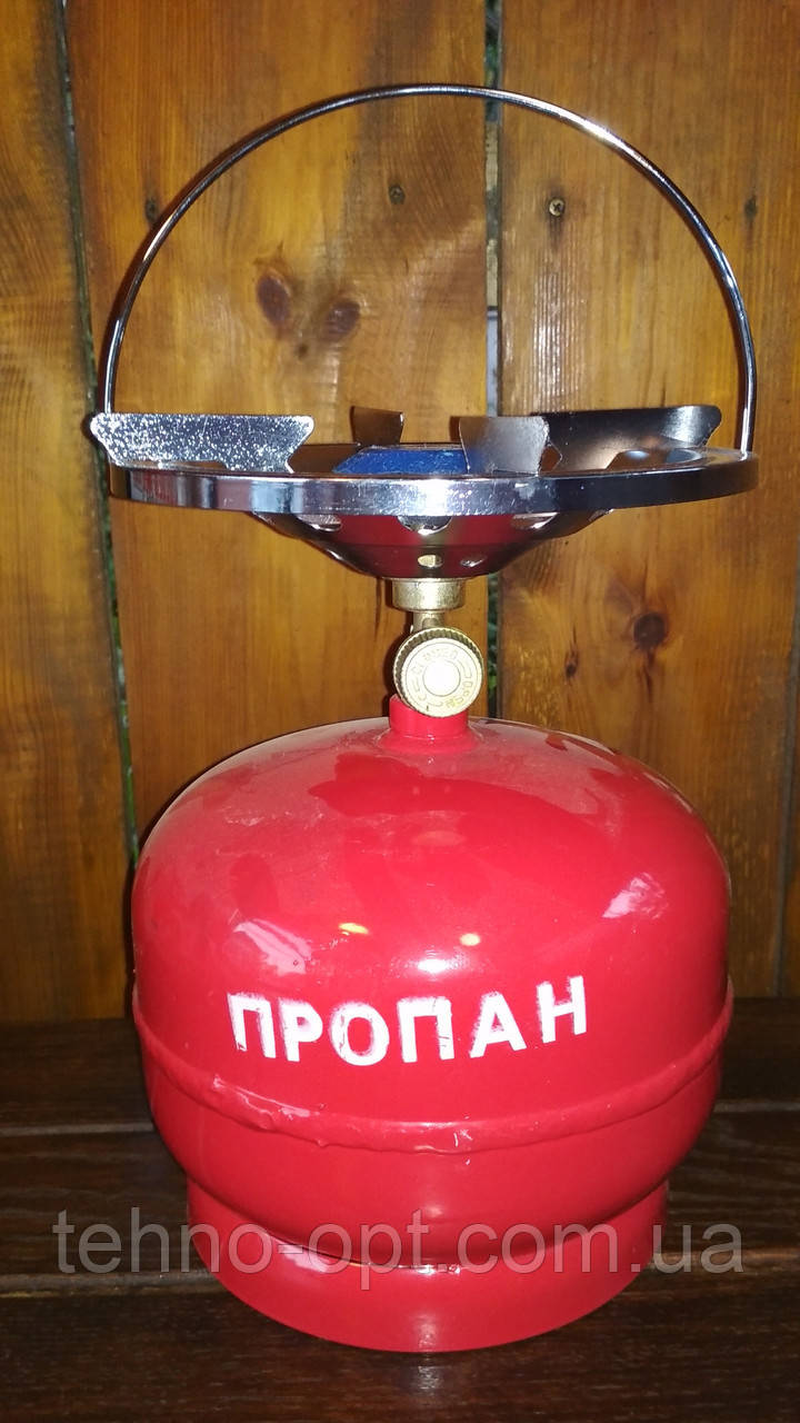 Горелка газовая INTERTOOL с баллоном 5 л Баллон туристический примус 5 литров