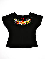 Вишита жіноча трикотажна футболка MOTYV by Piccolo L