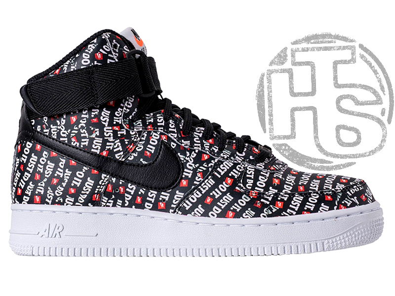 Мужские кроссовки Nike Air Force 1 High Just Do It Pack Black AQ9648-001