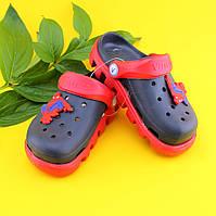 Детские двухцветные кроксы для мальчика оптом тм Виталия р. 20-31,5, фото 1