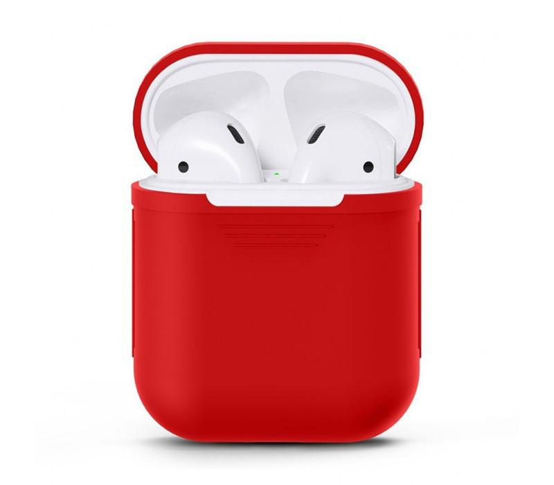 Чехол для AirPods silicone case красный