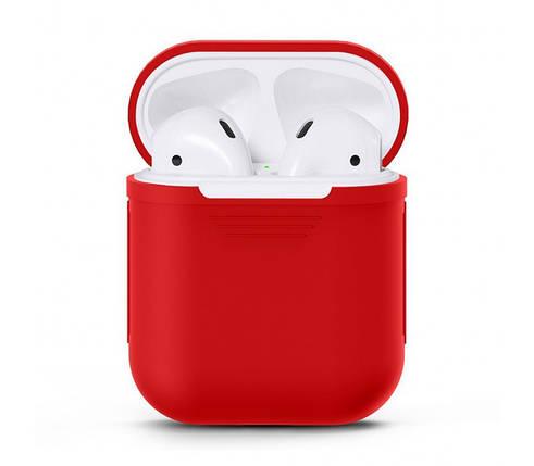 Чехол для AirPods silicone case красный, фото 2
