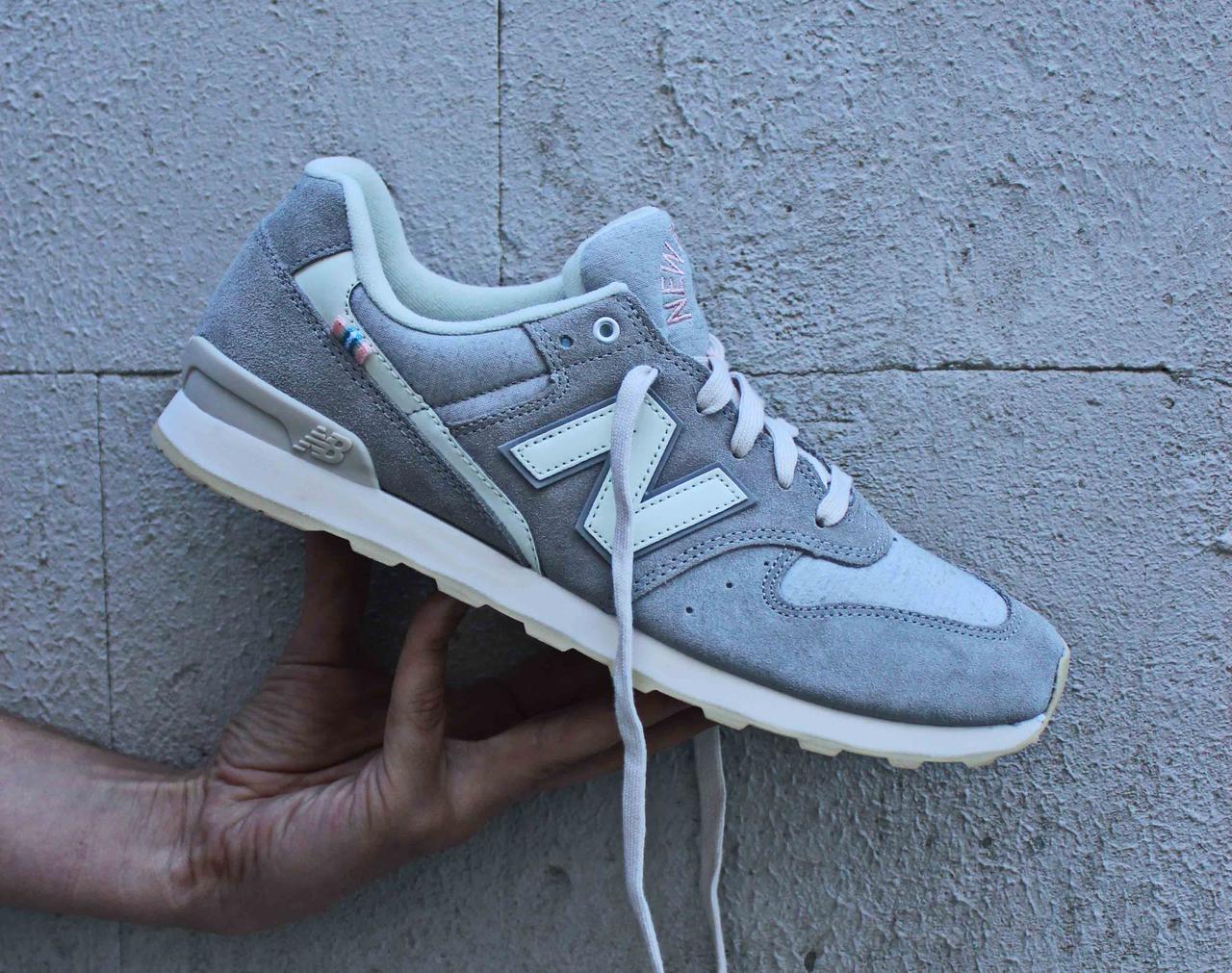 Фирменные серые женские кроссовки в сетку New Balance 696 WL696YC 42 43 размера