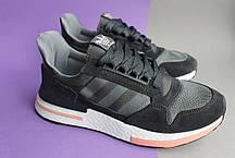 Мужские кроссовки Adidas ZX 500 RM Grey Black, фото 2