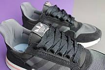 Мужские кроссовки Adidas ZX 500 RM Grey Black, фото 3