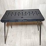 Мангал Огонёк раскладной в чемодан 3мм с ножками на 6 шампуров ХВЗ, фото 4