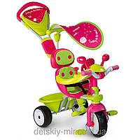 Велосипед трехколесный металлический Baby Driver Confort Sport Fille Smoby
