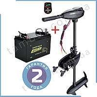 Лодочный электромотор для троллинга Fisher 32 + аккумулятор Gel 80Ah
