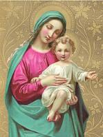 """Алмазная вышивка """"Богородица с Иисусом"""""""