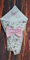 Конверт именной всесезонный для новорожденных с  вышивкой, фото 1