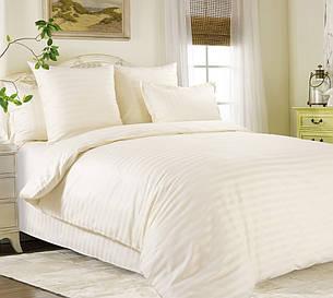Двуспальный Евро комплект постельного белья (страйп-сатин люкс, 200*220 см), фото 2