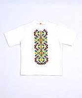 Футболка-вишиванка для хлопчика біла Морозенко Piccolo L