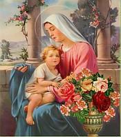 """Рисование камнями """"Икона Святая Мария"""""""