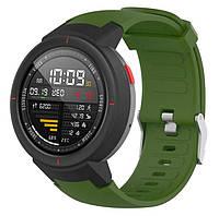 Силиконовый ремешок для часов Xiaomi Amazfit Verge (A1801/A1811) - Army Green