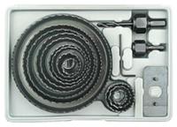Коронки по дереву и гипсокартону наборные 16 шт, Ø 19 - 127 мм в пластиковом кейсе144160 Sigma