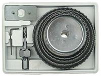 Коронки по дереву и гипсокартону наборные 8 шт, Ø 64 - 127 мм в пластиковом кейсе144800 Sigma