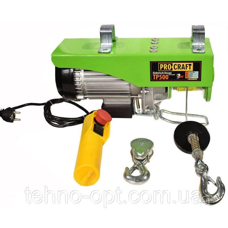 Электрический подъемник (тельфер, лебёдка)PROCRAFTТР500