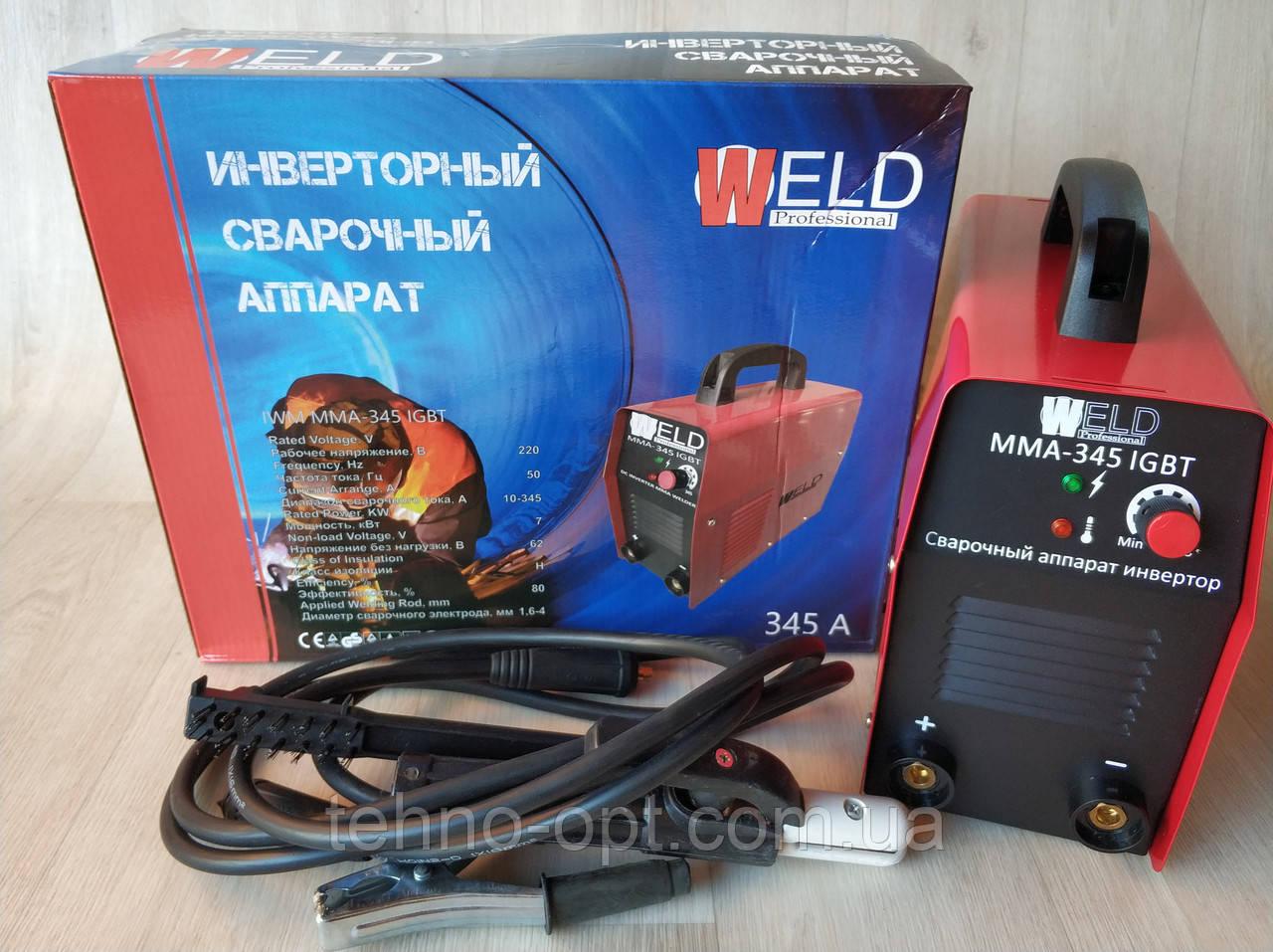 Инверторный сварочный аппарат Weld IWM-345 IGBT сварка инверторная