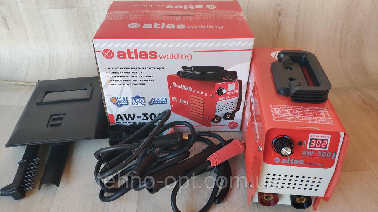 Сварочный аппарат инвертор Atlas welding AW-300 (300 А, дисплей) Сварка Атлас