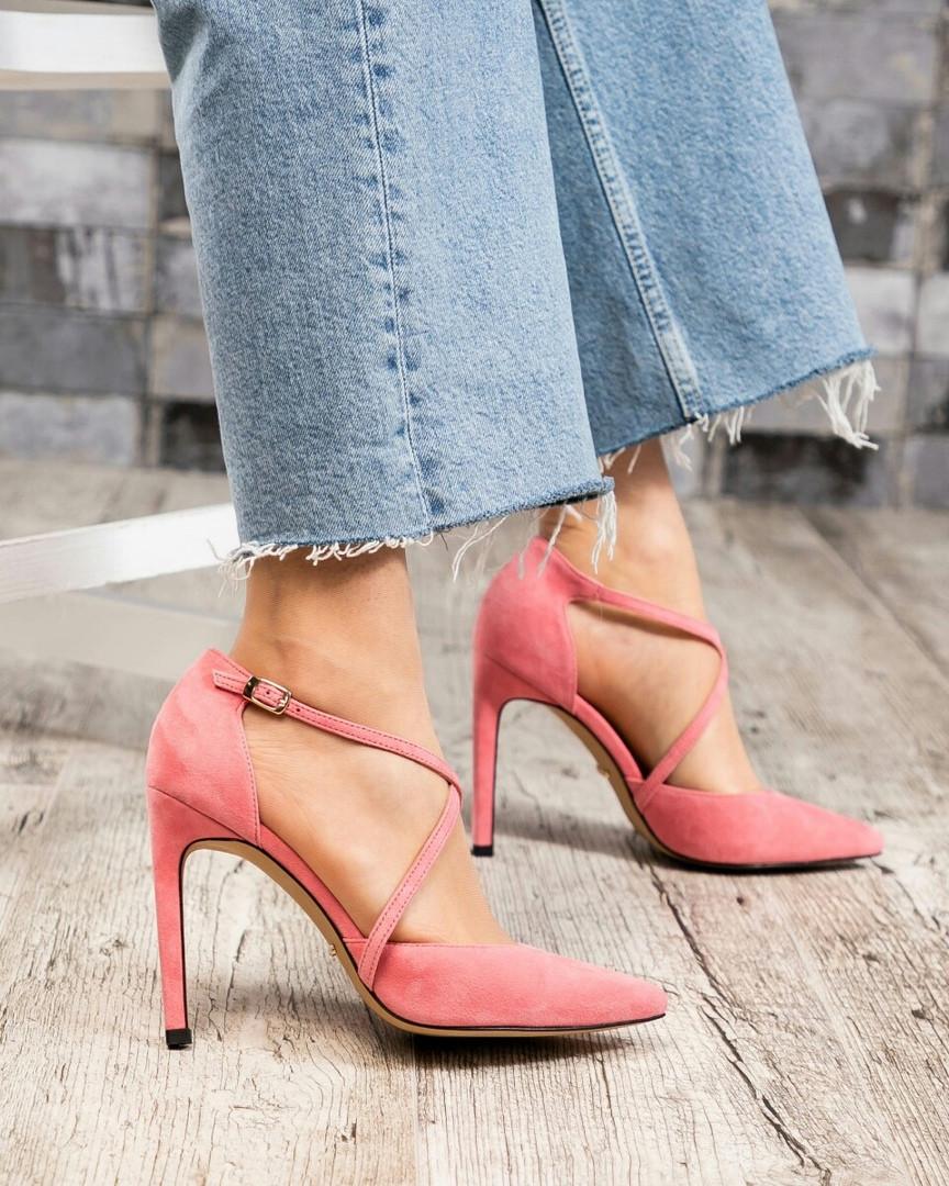 Открытые туфли женские розовые