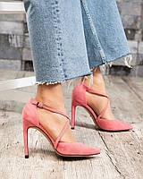 Открытые туфли женские розовые, фото 1