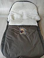 Конверт чехол на овчине в коляску санки, фото 1