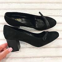 Женские туфельки Viko, натуральная замша каблук.