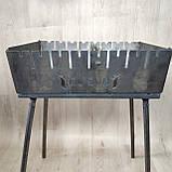 Мангал Огонёк раскладной на 8 шампуров 2 мм чемодан  с шампурами 8 шт и чехлом С,Е,В, фото 2