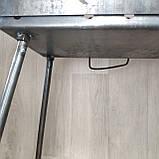 Мангал Огонёк раскладной на 8 шампуров 2 мм чемодан  с шампурами 8 шт и чехлом С,Е,В, фото 3