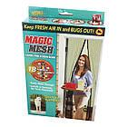 Антимоскитная Сетка для двери на магнитах Magic Mesh 100 х 210 см Черная, фото 2