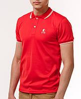 Мужская футболка polo YSTB с воротником красная (мужские футболки, молодежные, стильные, поло), фото 1