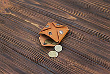 Монетница ручной работы из кожи Краст VOILE cn3-kgin, фото 3