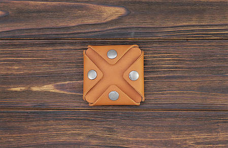 Монетница ручной работы из кожи Краст VOILE cn3-kgin, фото 2