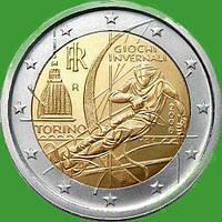 Италия 2 евро 2006 г. Зимняя олимпиада в Турине. UNC
