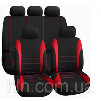 Чехол для салона автомобиля универсальный VODOOL Cross Black&Red