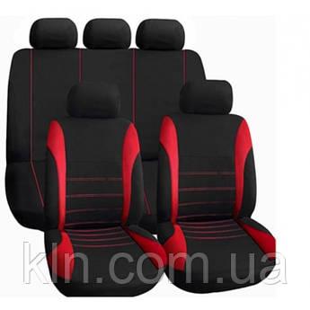 Чохол для салону автомобіля універсальний VODOOL Cross Black&Red