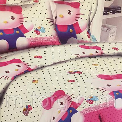Комплект постельного белья полуторный 150/220 с детским рисунком,одна нав-ка 70/70,ткань сатин 100% хлопок, фото 2